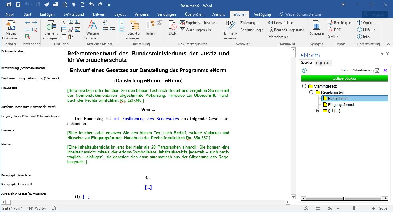 eNorm Add-In für MS Word